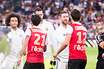 Real Madrid's player Marcelo, Casilla and Sergio Ramos and Stade de Reims's player Rodriguez and Chavarria during the XXXVII Santiago Bernabeu Trophy in Madrid. August 16, Spain. 2016. (ALTERPHOTOS/BorjaB.Hojas)