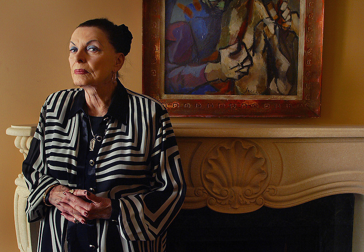 Wallace Albertsonin her home, Thursday morning in West Hollywood. She is a policyholder who sustained losses and hopes to recovery damages in a lawsuit by the California Insurance Commissioner against Credit Lyonaise Bank and other French defendants over alleged fraud involving the failed Executive Life Insurance Co. in 1991.