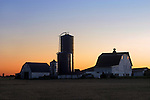 A New Day Dawns Over A Midwestern Farm, Ohio, USA