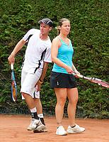 19-08-11, Tennis, Amstelveen, Nationale Tennis Kampioenschappen, NTK, Kim Kilsdonk en Arjan Pastoors
