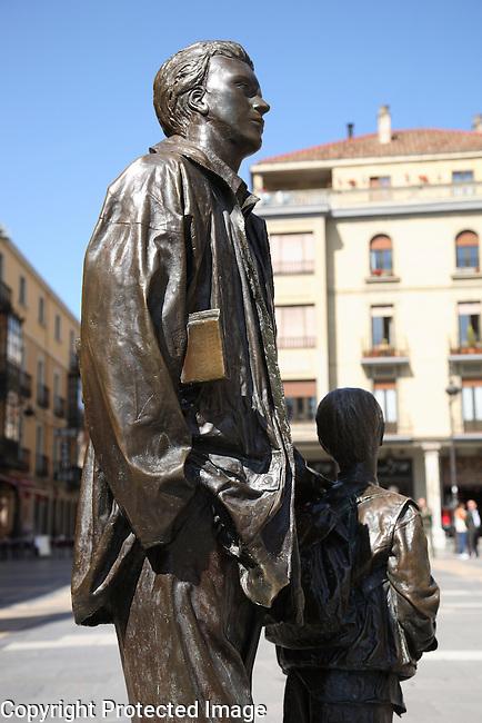 Monument in Regla Square, Leon, Spain