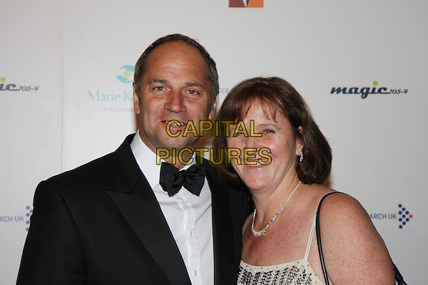 STEVE REDGRAVE & WIFE .Arrivals - The Emerald & Ivy Ball, Batersea Evolution, London, England..November 21st 2008.headshot portrait bow tie married husband black .CAP/MAR.©Martin Harris/Capital Pictures.