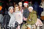 Judy Iwiszkiwcz, Elodei Grace, Nadia Jrjolska, Vivien Vivrznik and Mirz Mriwrszkawcz at the turning on of the Christmas Tree lights on Saturday.