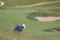Shane Lowry (IRL) in the rough for his 2nd shot on the 4th hole during Friday's Round 2 of the 117th U.S. Open Championship 2017 held at Erin Hills, Erin, Wisconsin, USA. 16th June 2017.<br /> Picture: Eoin Clarke | Golffile<br /> <br /> <br /> All photos usage must carry mandatory copyright credit (&copy; Golffile | Eoin Clarke)