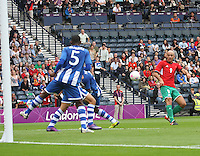 Men's Olympic Football match Honduras v Morocco on 26.7.12...During the Honduras v Morocco Men's Olympic Football match at Hampden Park, Glasgow..................