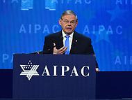 Washington, DC - March 6, 2018: U.S. Senator Robert Menendez speaks to attendees of the 2018 American Israel Public Affairs Committee (AIPAC) Policy Conference at the Washington Convention Center March 6, 2018.  (Photo by Don Baxter/Media Images International)