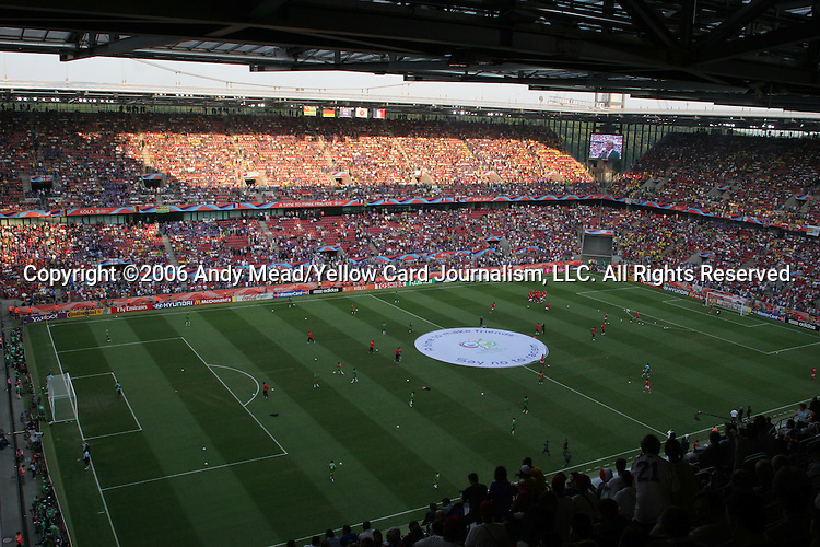 23 June 2006: A wide shot of the stadium before the game. Togo played France at the RheinEnergie Stadion in Cologne, Germany in match 45, a Group G first round game, of the 2006 FIFA World Cup.