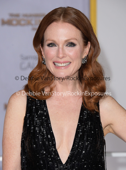 Julianne Moore at The  Los Angeles Premiere of The Hunger Games: Mockingjay - Part 1 held at  Nokia Theatre L.A. Live in Los Angeles, California on November 17,2014                                                                               © 2014 Hollywood Press Agency