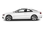 Car driver side profile view of a 2014 Audi A5 Premium Quattro 2 Door Coupe