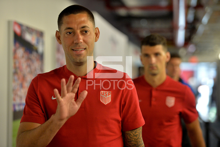 Harrison, N.J. - Friday September 01, 2017: Clint Dempsey during a 2017 FIFA World Cup Qualifying (WCQ) round match between the men's national teams of the United States (USA) and Costa Rica (CRC) at Red Bull Arena.