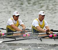 Poznan, POLAND.  2006, FISA, Rowing, World Cup, AUS M4X, Peter HARDCASTLE, Craig JONES, move  away from  the  start, on the Malta  Lake. Regatta Course, Poznan, Thurs. 15.06.2006. © Peter Spurrier   ...[Mandatory Credit Peter Spurrier/ Intersport Images] Rowing Course:Malta Rowing Course, Poznan, POLAND