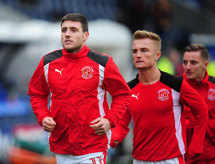 Fleetwood Town's Bobby Grant during the pre-match warm-up <br /> <br /> Photographer Kevin Barnes/CameraSport<br /> <br /> The Emirates FA Cup Second Round - Shrewsbury Town v Fleetwood Town - Saturday 3rd December 2016 - Greenhous Meadow - Shrewsbury <br />  <br /> World Copyright &copy; 2016 CameraSport. All rights reserved. 43 Linden Ave. Countesthorpe. Leicester. England. LE8 5PG - Tel: +44 (0) 116 277 4147 - admin@camerasport.com - www.camerasport.com