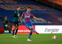29th June 2020; Selhurst Park, London, England; English Premier League Football, Crystal Palace versus Burnley Football Club; Gary Cahill of Crystal Palace passing the ball into midfield as they look for an equaliser