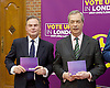 UKIP launch London Manifesto 2016 <br /> with Candidates for mayor and the London Assembly <br /> at the Emmanuel Centre, London, Great Britain <br /> 19th April 2016 <br /> <br /> Nigel Farage <br /> Leader of UKIP <br /> <br /> Peter Whittle <br /> Candidate for mayor of London <br /> <br /> <br /> Photograph by Elliott Franks <br /> Image licensed to Elliott Franks Photography Services