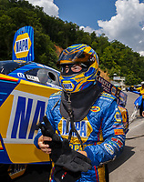 Jun 17, 2017; Bristol, TN, USA; NHRA funny car driver Ron Capps during qualifying for the Thunder Valley Nationals at Bristol Dragway. Mandatory Credit: Mark J. Rebilas-USA TODAY Sports