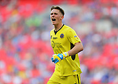 27th May 2018, Wembley Stadium, London, England;  EFL League 1 football, playoff final, Rotherham United versus Shrewsbury Town; Goalkeeper Dean Henderson of Shrewsbury Town shouting for the ball