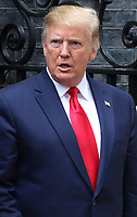 US President Donald Trump outside No 10 Downing Street on the second day of the State Visit to the UK. June 4th 2019<br /> CAP/ROS<br /> ©ROS/Capital Pictures