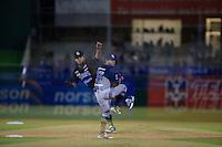 Ramon Delgado pitcher abridor por Yaquis ,durante primer  juego de la serie de beisbol entre Yaquis de Obregon vs Naranjeros de Hermosillo de la Liga Mexicana del Pacifico en Estadio Sonora.<br /> Hermosillo Sonora  27 diciembre 2014. <br /> (CreditoFoto:Luis Gutierrez)