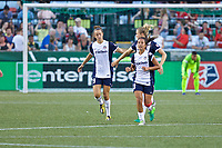 Portland, OR - Saturday July 22, 2017: Havana Solaun, Caprice Dydasco during a regular season National Women's Soccer League (NWSL) match between the Portland Thorns FC and the Washington Spirit at Providence Park.