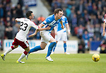 St Johnstone v Rangers&Ouml;21.05.17     SPFL    McDiarmid Park<br /> Liam Craig fends off Jason Holt<br /> Picture by Graeme Hart.<br /> Copyright Perthshire Picture Agency<br /> Tel: 01738 623350  Mobile: 07990 594431