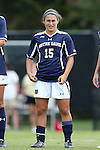 28 September 2014: Notre Dame's Karin Simonian. The Wake Forest University Demon Deacons hosted the Notre Dame University Fighting Irish at W. Dennie Spry Soccer Stadium in Winston-Salem, North Carolina in a 2014 NCAA Division I Women's Soccer match.