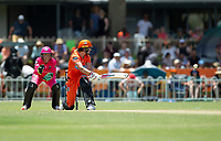 24th November 2019; Lilac Hill Park, Perth, Western Australia, Australia; Womens Big Bash League Cricket, Perth Scorchers versus Sydney Sixers; Meg Lanning of the Perth Scorchers plays a sweep shot during her innings - Editorial Use