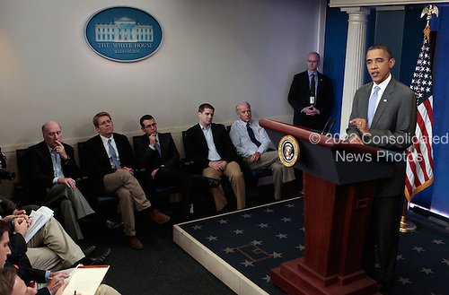 United States President Barack Obama speaks on the debt limit impasse from the briefing room of the White House on Sunday, July 31, 2011 in Washington, D.C. Obama indicated that he and Republican members of Congress have reached a compromise to solve the debt limit impasse prior to the August 2 deadline.  .Credit: Chip Somodevilla / Pool via CNP