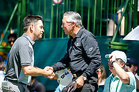 Louis Oosthuizen (RSA) and Gary Player during the final round of the Nedbank Golf Challenge hosted by Gary Player,  Gary Player country Club, Sun City, Rustenburg, South Africa. 11/11/2018 <br /> Picture: Golffile | Tyrone Winfield<br /> <br /> <br /> All photo usage must carry mandatory copyright credit (&copy; Golffile | Tyrone Winfield)