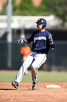 Milwaukee Brewers outfielder Elvis Rubio (81) during an Instructional League game against the San Francisco Giants on October 10, 2014 at Maryvale Baseball Park Training Complex in Phoenix, Arizona.  (Mike Janes/Four Seam Images)