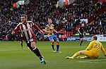 Billy Sharp of Sheffield Utd celebrates his goal during the English League One match at the Bramall Lane Stadium, Sheffield. Picture date: November 19th, 2016. Pic Simon Bellis/Sportimage