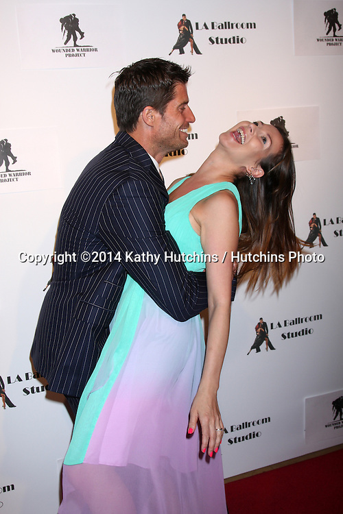 LOS ANGELES - MAR 31:  Elena Grinenko, Rib Hillis at the LA Ballroom Studio Grand Opening at LA Dance Studio on March 31, 2014 in Sherman Oaks, CA