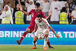 Ali Ahmed Mabkhout of United Arab Emirates (R) fights for the ball with Tarek Salman of Qatar (L) during the AFC Asian Cup UAE 2019 Semi Finals match between Qatar (QAT) and United Arab Emirates (UAE) at Mohammed Bin Zaied Stadium  on 29 January 2019 in Abu Dhabi, United Arab Emirates. Photo by Marcio Rodrigo Machado / Power Sport Images