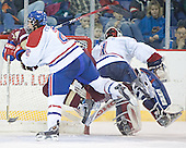 Matt Collar, Brian Boyle, Vinny Monaco - The University of Massachusetts-Lowell River Hawks defeated the Boston College Eagles 6-3 on Saturday, February 25, 2006, at the Paul E. Tsongas Arena in Lowell, MA.