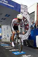 GEELONG, 30 SEPTEMBER - Fabian CANCELLARA (SUI) competing at the 2010 UCI Road World Championships time trial event in Geelong, Victoria, Australia. (Photo Sydney Low / syd-low.com)