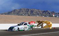 Apr. 3, 2009; Las Vegas, NV, USA: NHRA funny car driver Ashley Force Hood during qualifying for the Summitracing.com Nationals at The Strip in Las Vegas. Mandatory Credit: Mark J. Rebilas-