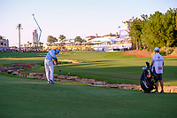 Rafa Cabrera Bello (ESP) on the 18th during the 2nd round of the DP World Tour Championship, Jumeirah Golf Estates, Dubai, United Arab Emirates. 22/11/2019<br /> Picture: Golffile | Fran Caffrey<br /> <br /> <br /> All photo usage must carry mandatory copyright credit (© Golffile | Fran Caffrey)