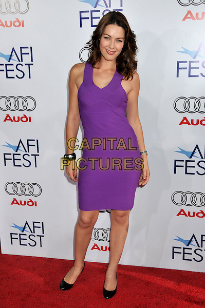 """LOUISE GRIFFITHS .AFI Fest 2008 Screening of """"Truth In 24""""at Grauman's Chinese Theatre, Hollywood, California, USA..November 6th, 2008.full length purple dress .CAP/ADM/BP.©Byron Purvis/AdMedia/Capital Pictures."""