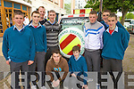 SAFETY: Students from St Michael's College, Listowel who attended the Road Safety Roadshow in Tralee on Tuesday, front l-r: David O'Connor, Conor Morris. Standing l-r: Eric O'Connor, Colm Supple, Liam Hassett (Teacher), Jamie Barry, Conor Cox, John Ross Dowling, Aidan Galvin.