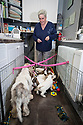 21/12/17<br /> <br /> Three-year-old Zamba, a Basset Griffon Vendéen, with her seven-week-old pups, with breeder, Yvonne Moult (47) at home Mansfield, Nottinghamshire.<br /> <br />   <br /> All Rights Reserved F Stop Press Ltd. +44 (0)1335 344240 +44 (0)7765 242650  www.fstoppress.com