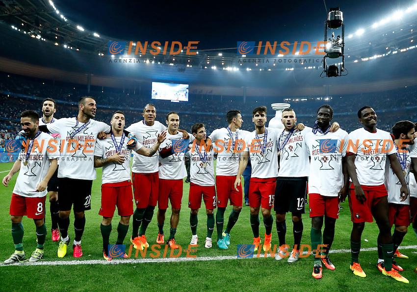 Portugal celebration. esultanza<br /> Paris 10-07-2016 Stade de France Football Euro2016 Portugal - France / Portogallo - Francia Final / Finale <br /> Foto Matteo Ciambelli / Insidefoto