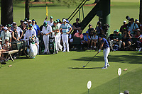 Rory McIlroy (NIR) on the 18th tee during the 1st round at the The Masters , Augusta National, Augusta, Georgia, USA. 11/04/2019.<br /> Picture Fran Caffrey / Golffile.ie<br /> <br /> All photo usage must carry mandatory copyright credit (&copy; Golffile | Fran Caffrey)