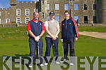 Enjoying the competition at The Spring League at Ballyheigue Golf Club on Sunday morning were l/r ~Alan O'Sullivan, Brendan O'Sullivan and Ned Flahive, all from Ballyheigue..