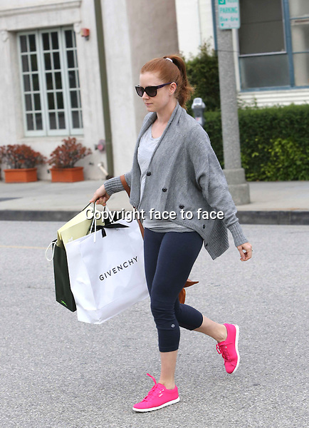 Amy Adams is shopping in Beverly Hills, 25.04.2014. <br />