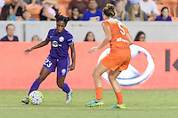 Houston, TX - Saturday Sept. 03, 2016: Jasmyne Spencer during a regular season National Women's Soccer League (NWSL) match between the Houston Dash and the Orlando Pride at BBVA Compass Stadium.