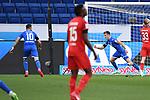 Torjubel nach dem 1-0: Munas Dabbur (Hoffenheim) und Torschuetze Christoph Baumgartner (Hoffenheim).<br /> <br /> Sport: Fussball: 1. Bundesliga: Saison 19/20: 28. Spieltag: TSG 1899 Hoffenheim - 1. FC Koeln, 27.05.2020<br /> <br /> Foto: Markus Gilliar/GES/POOL/PIX-Sportfotos.<br /> <br /> Nur für journalistische Zwecke! Only for editorial use!<br /> <br /> Gemäß den Vorgaben der DFL Deutsche Fußball Liga ist es untersagt, in dem Stadion und/oder vom Spiel angefertigte Fotoaufnahmen in Form von Sequenzbildern und/oder videoähnlichen Fotostrecken zu verwerten bzw. verwerten zu lassen. DFL regulations prohibit any use of photographs as image sequences and/or quasi-video.