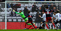Preston North End's Michael Crowe can't stop the shot from Doncaster Rovers' Tom Anderson <br /> <br /> Photographer Alex Dodd/CameraSport<br /> <br /> The Emirates FA Cup Third Round - Preston North End v Doncaster Rovers - Sunday 6th January 2019 - Deepdale Stadium - Preston<br />  <br /> World Copyright &copy; 2019 CameraSport. All rights reserved. 43 Linden Ave. Countesthorpe. Leicester. England. LE8 5PG - Tel: +44 (0) 116 277 4147 - admin@camerasport.com - www.camerasport.com