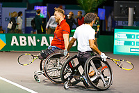 Rotterdam, The Netherlands, 9 Februari 2020, ABNAMRO World Tennis Tournament, Ahoy, Wheelchair: Stephane Houdet (FRA) and Nicolas Peifer (FRA).<br /> Photo: www.tennisimages.com