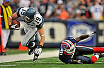 7 September 2008:  Seattle Seahawks' wide receiver Logan Payne is tripped up by Buffalo Bills' cornerback Ashton Youboty after gaining 4 yards in the 4th quarter at Ralph Wilson Stadium in Orchard Park, NY. The Bills defeated the Seahawks 34-10 in the season opening game...Mandatory Photo Credit: Ed Wolfstein Photo