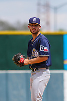 San Antonio Missions pitcher Bubba Derby (11) on the mound during a Pacific Coast League game against the Iowa Cubs on May 2, 2019 at Principal Park in Des Moines, Iowa. Iowa defeated San Antonio 8-6. (Brad Krause/Four Seam Images)