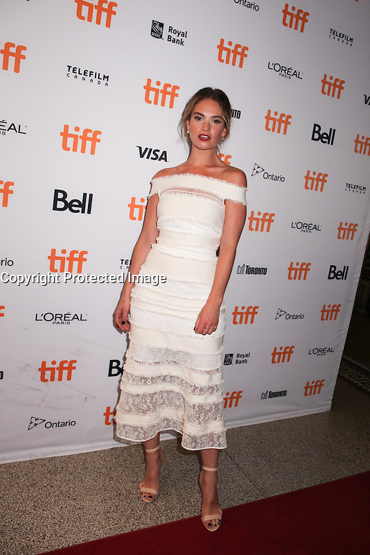 LILY JAMES - RED CARPET OF THE FILM 'THE EXCEPTION' - 41ST TORONTO INTERNATIONAL FILM FESTIVAL 2016 . 15/09/2016. # FESTIVAL INTERNATIONAL DU FILM DE TORONTO 2016